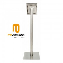soporte para tablet universal de pie en acero inoxidable