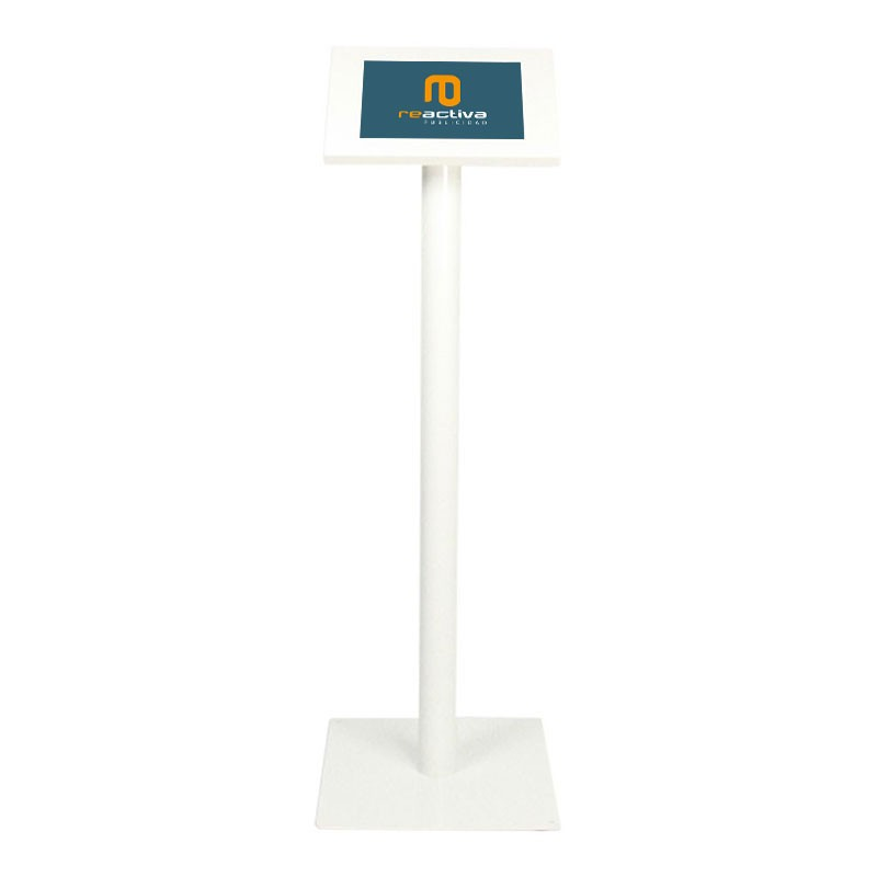 suport per tablet universal de peu en blanc