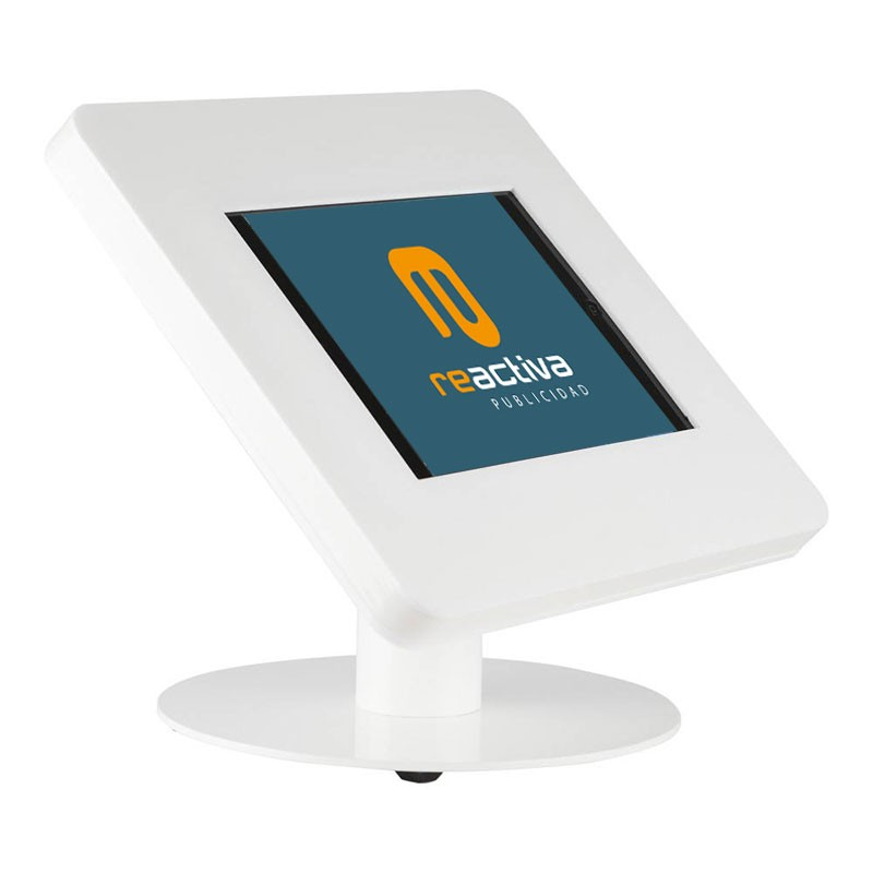 Soporte para tablet de sobremesa en color blanco