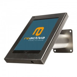 Suport universal metàl·lic per tablet de sobretaula i paret en acer inoxidable