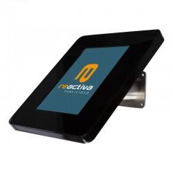 Suport per tablet de sobretaula i paret en color negre i acer inoxidable