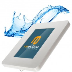 soporte para tablet impermeable para exteriores de color blanco