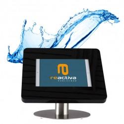 soporte para tablet impermeable para exteriores de color negro