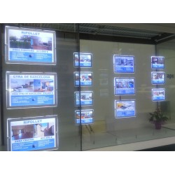 cuadro led para inmobiliarias formato a2