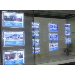 quadres led per a immobiliàries format a3