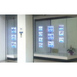 cuadros led formato a1 para inmobiliarias