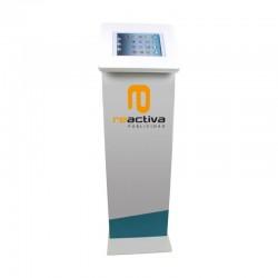 panell display per a suports de peu en color blanc