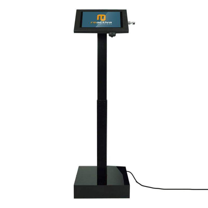 soporte para tablet elevator negro frontal