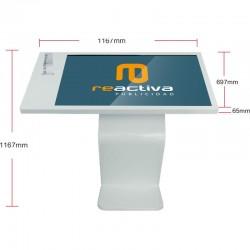 Atril interactivo con pantalla táctil de 49 pulgadas y impresora