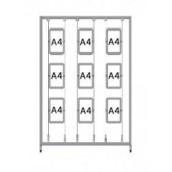 Bastidor para cuadros Led A4 (1,3 x 2m.)
