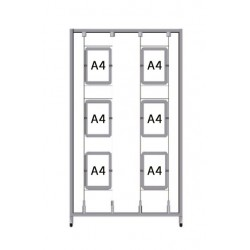 Bastidor para cuadros Led A4 (1 x 2m.)