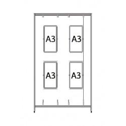 Bastidor per a quadres Led A3 (1 x 2m.)