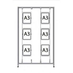 Bastidor para cuadros Led A3 (1,3 x 2m.)