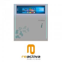 Punto de información interactivo y digital modelo Rome Interactive