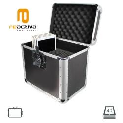 Maleta d'alumini portàtil i antirobatori model Valigia, per iPads i tablets,