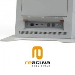 Atril con pantalla interactiva y pantalla táctil modelo Lisboa