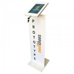 panel display para soportes de pie en color blanco
