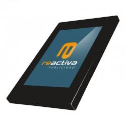 Soporte para tablet de sobremesa metálico en negro