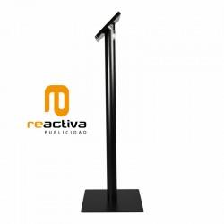 soporte para tablet modelo hierro de pie en negro