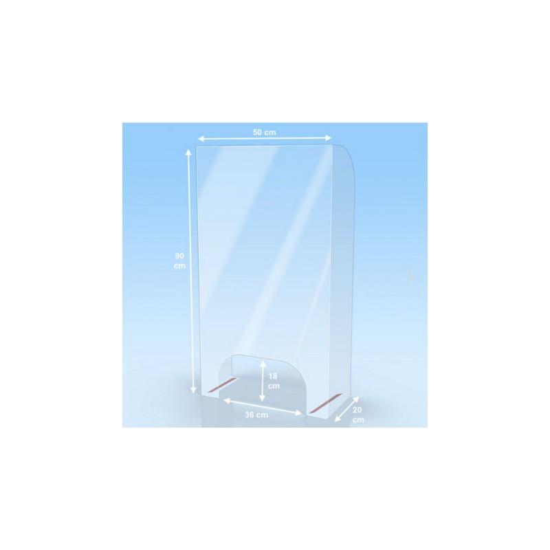 mampara protectora fabricada en policarbonat de 50 cm d'amplada