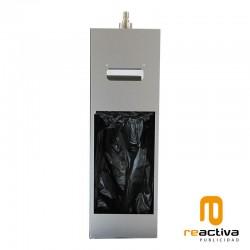 Dispensador de gel desinfectante y toallas de papel en bobina fabricado en acero inoxidable