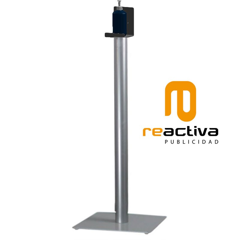 Columna dispensadora de gel desinfectante mod. Eco en color gris plata