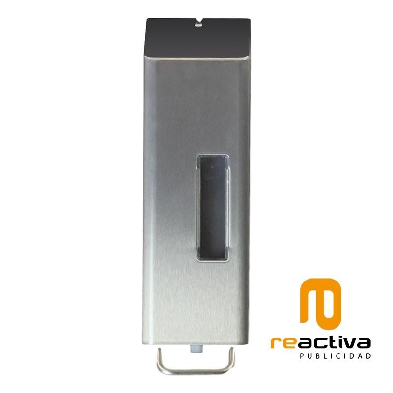Dispensador de gel desinfectant en acer inoxidable