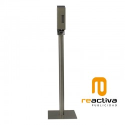 Columna dispensadora de gel en acero inoxidable