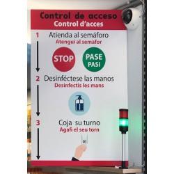 Sistema de control de presència y gestió de l'aforament
