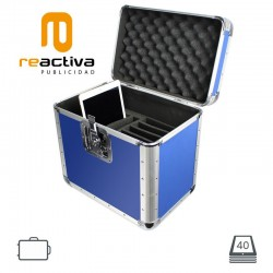 Maleta de aluminio portátil y antirobo modelo Valigia, para iPads y tablets,