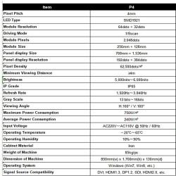 Características técnicas del Totem publicitario para exterior Modelo Scarlett
