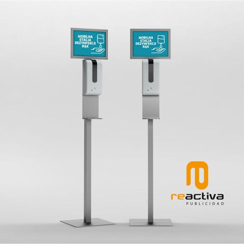 Dispensador de gel automático de pie