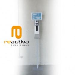 Termómetro con dispensador automático de gel