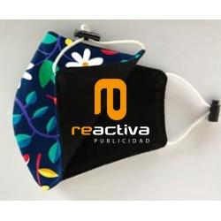 Mascarilla personalizada reutilizable