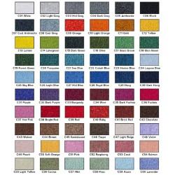 Muestrario de colores para Amfombras Desinfectantes