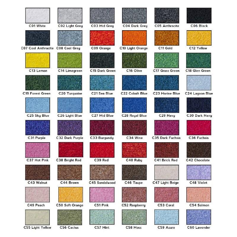 Mostrari de colors per Catifes Desinfectants