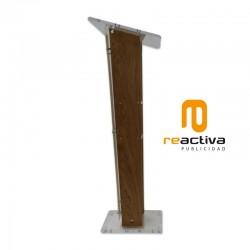Atril modelo Amigo, fabricado en metacrilato y madera