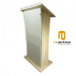 Atril modelo Essential, fabricado en madera y acrílico