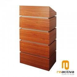 Faristol model Block, fabricat en fusta
