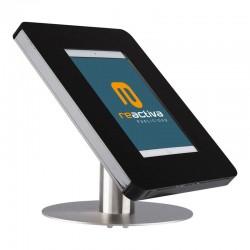 suport per tablet de sobretaula en negre i acer inoxidable