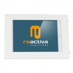 Soporte para tablet de sobremesa metálico en blanco