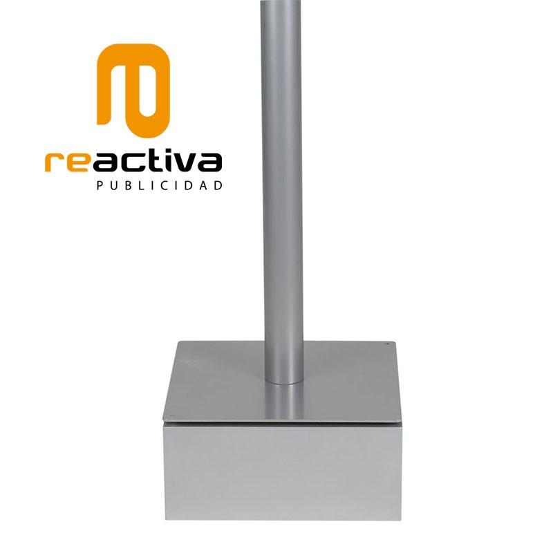 tarima elevadora de soportes de pie en color gris