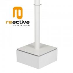 tarima elevadora de soportes de pie en color blanco