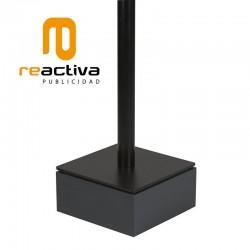tarima elevadora de soportes de pie en color negro