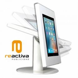 módulo de inclinación del soporte para tablet en color blanco, negro y gris