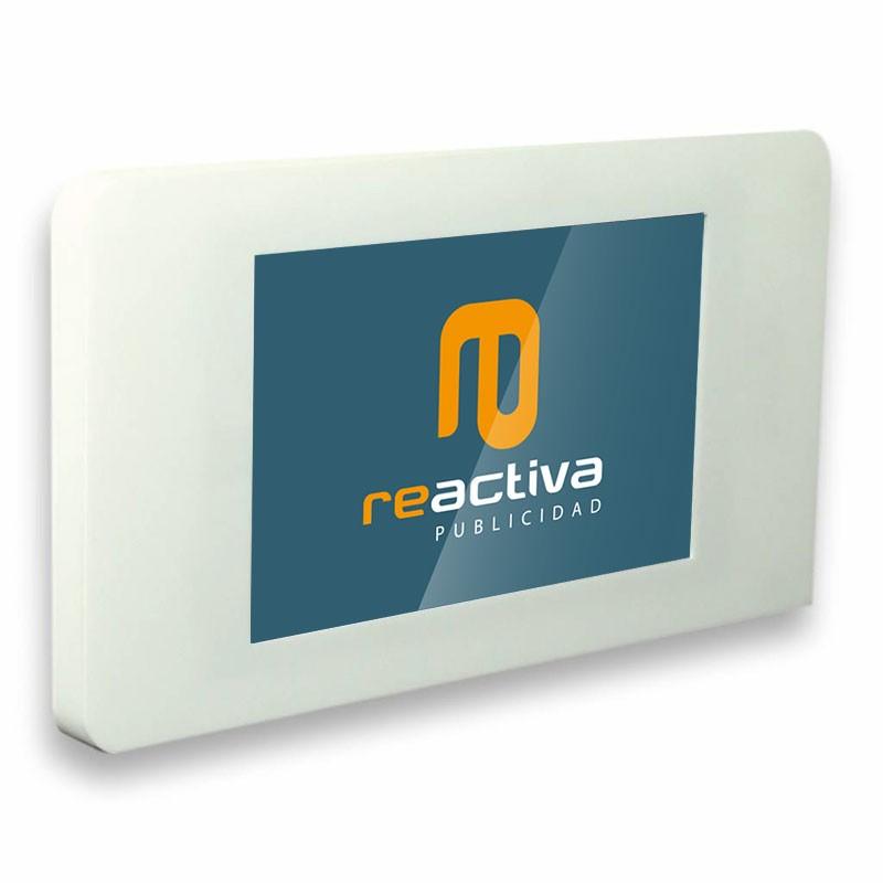 suport per tablet de paret en color blanc