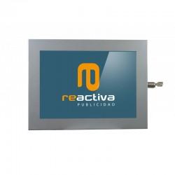 carcasa para tablet modelo universal metálico en gris