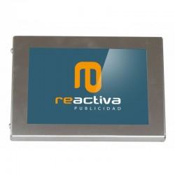 carcasa para tablet modelo universal metálico en acero inoxidable