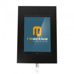 Caja universal metálica negra con cerradura de seguridad