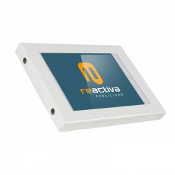 suport universal per a tablet de paret en color blanc
